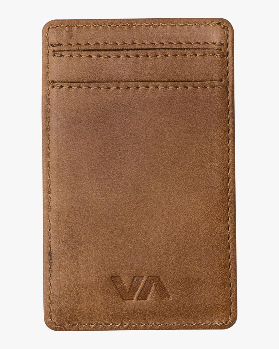 1 Clean Card Wallet Beige MAWAQRCW RVCA