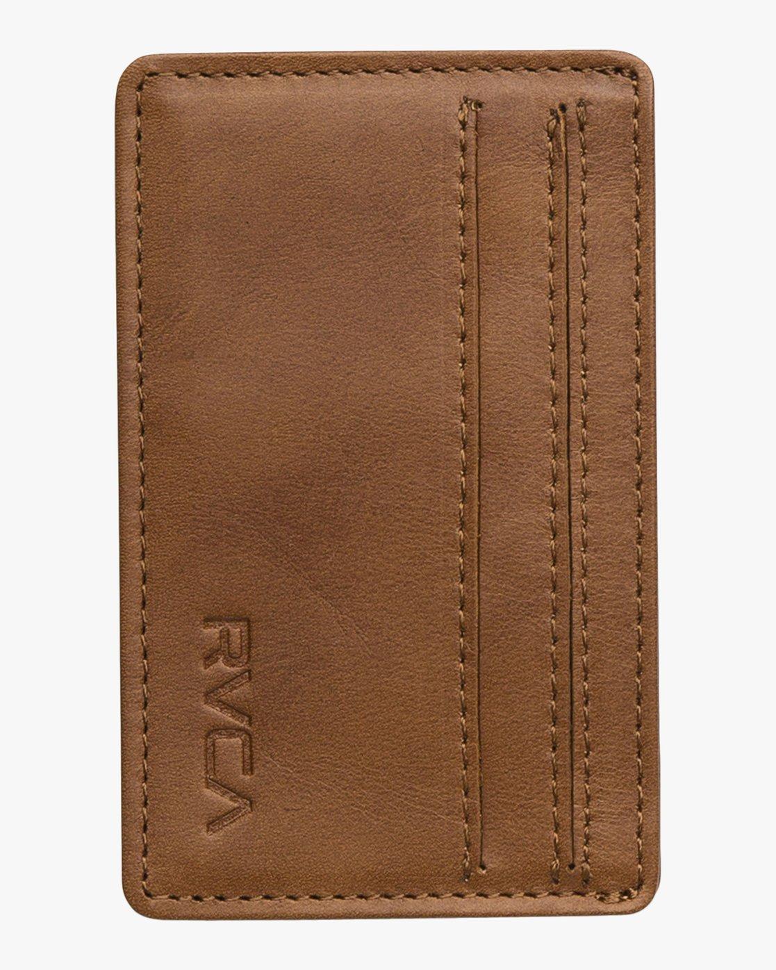 0 Clean Card Wallet Beige MAWAQRCW RVCA