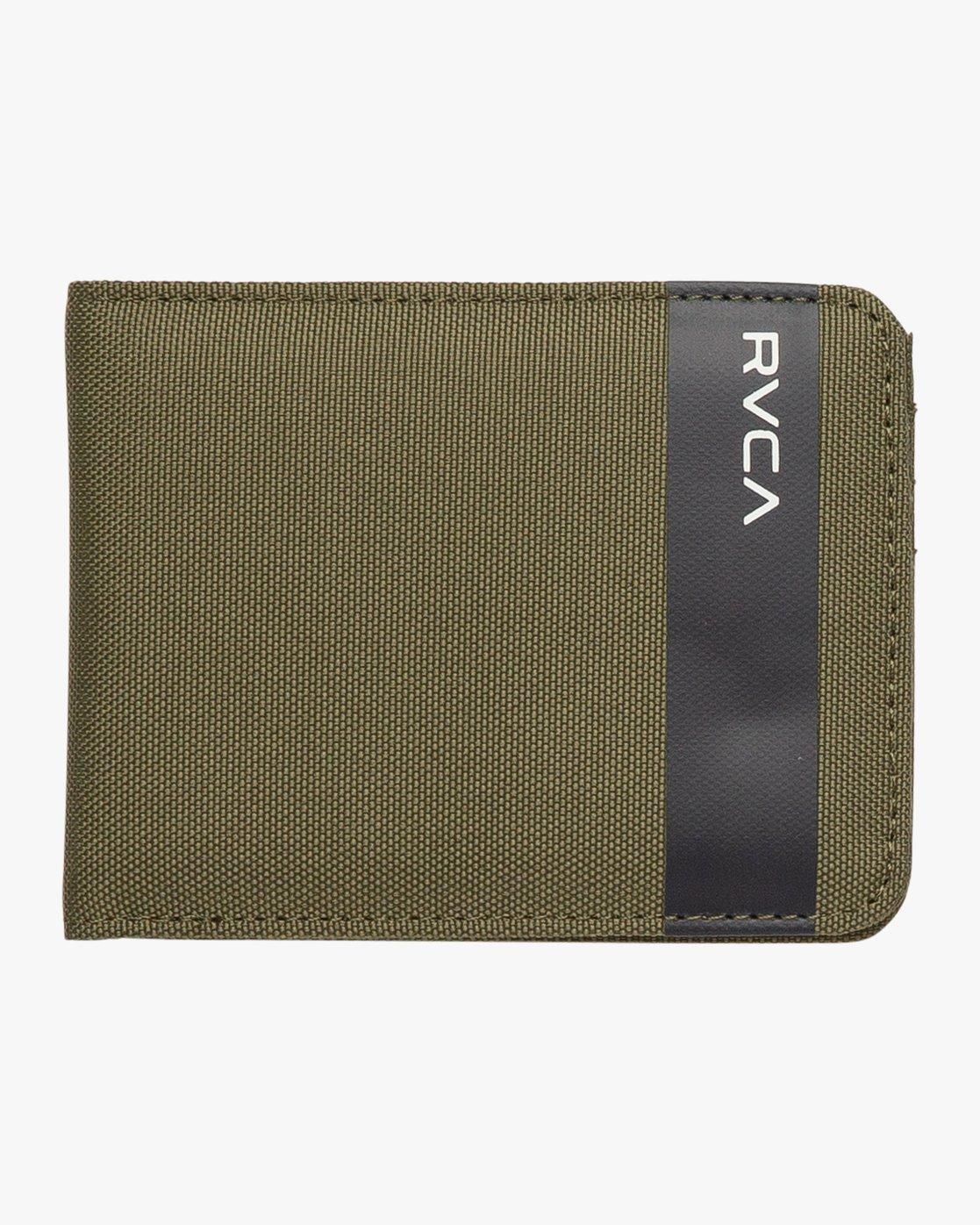 0 Leeward Bi-Fold Wallet Green MAWAQRLW RVCA