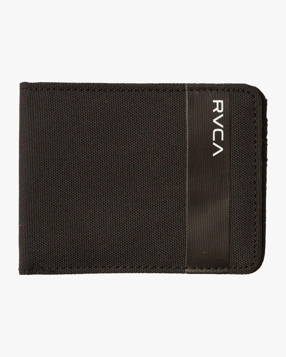 0 Leeward Bi-Fold Wallet Black MAWAQRLW RVCA