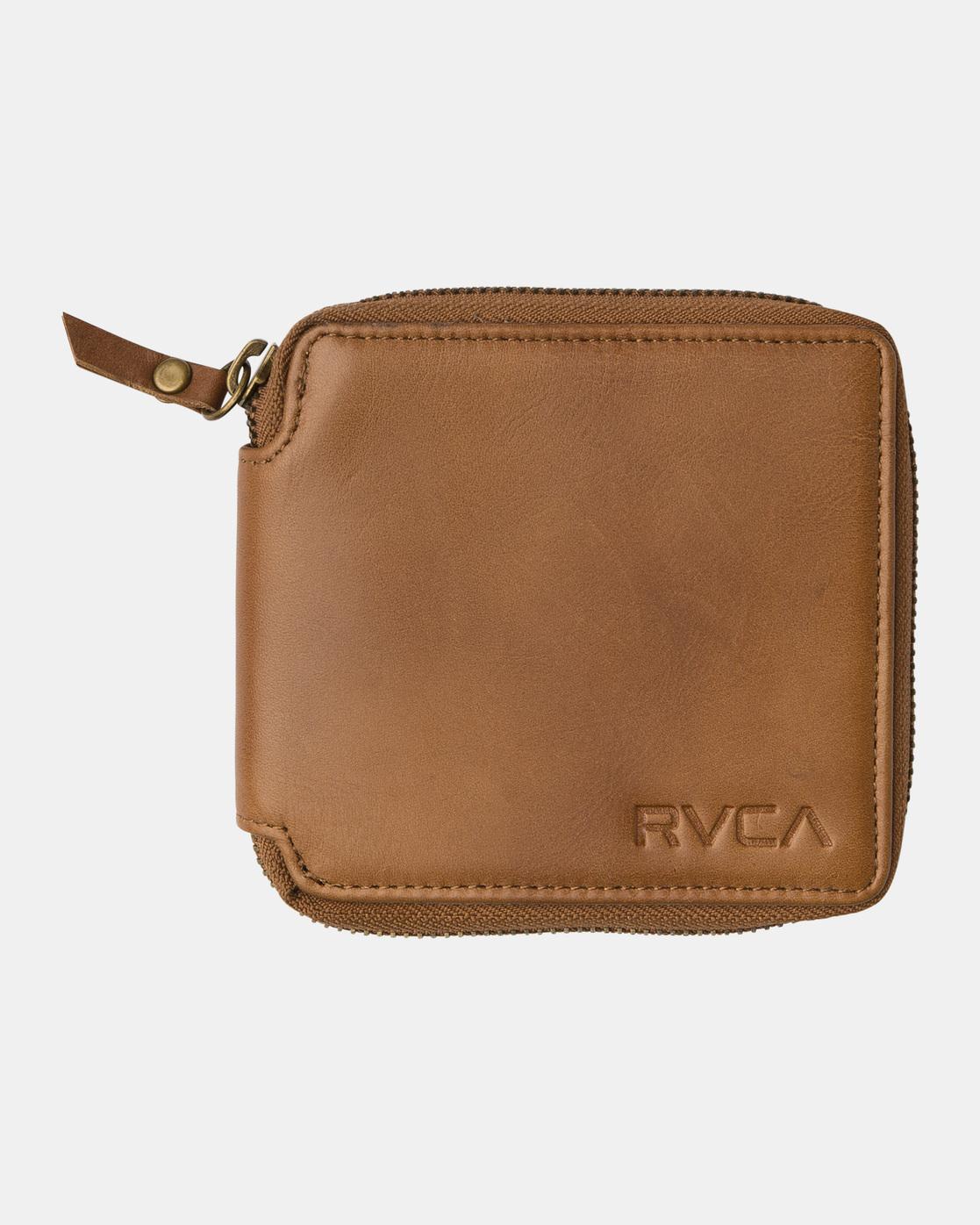 0 Zip Around Wallet Beige MAWAQRZA RVCA