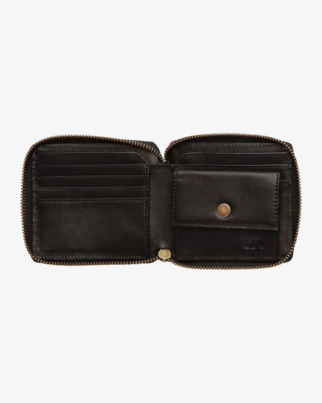 3 Zip Around Wallet Black MAWAQRZA RVCA