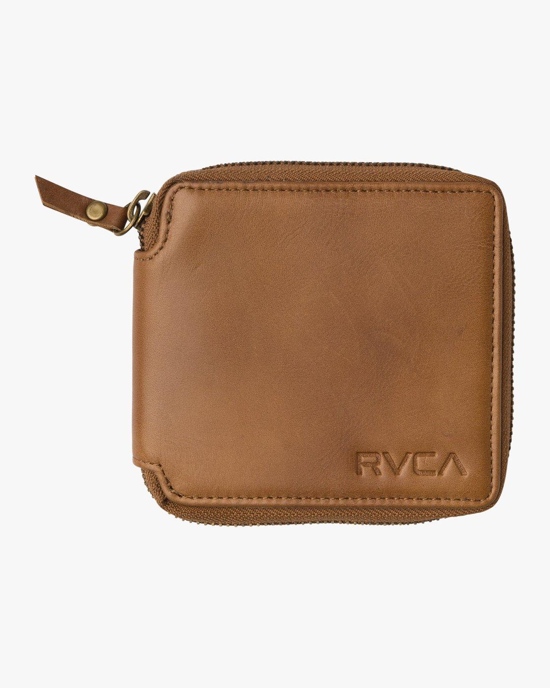 2 Zip Around Wallet Beige MAWAQRZA RVCA