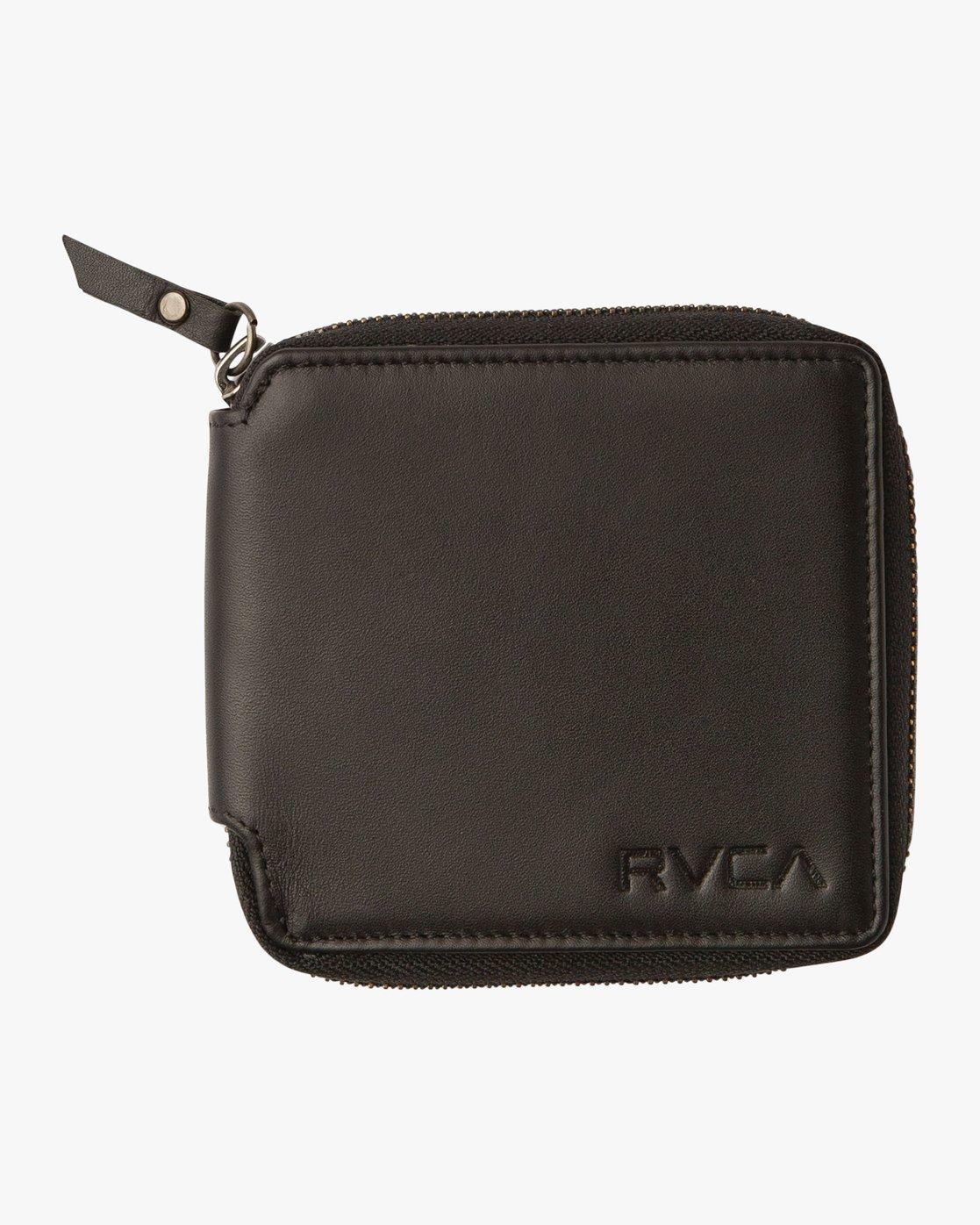 0 Zip Around Wallet Black MAWAQRZA RVCA