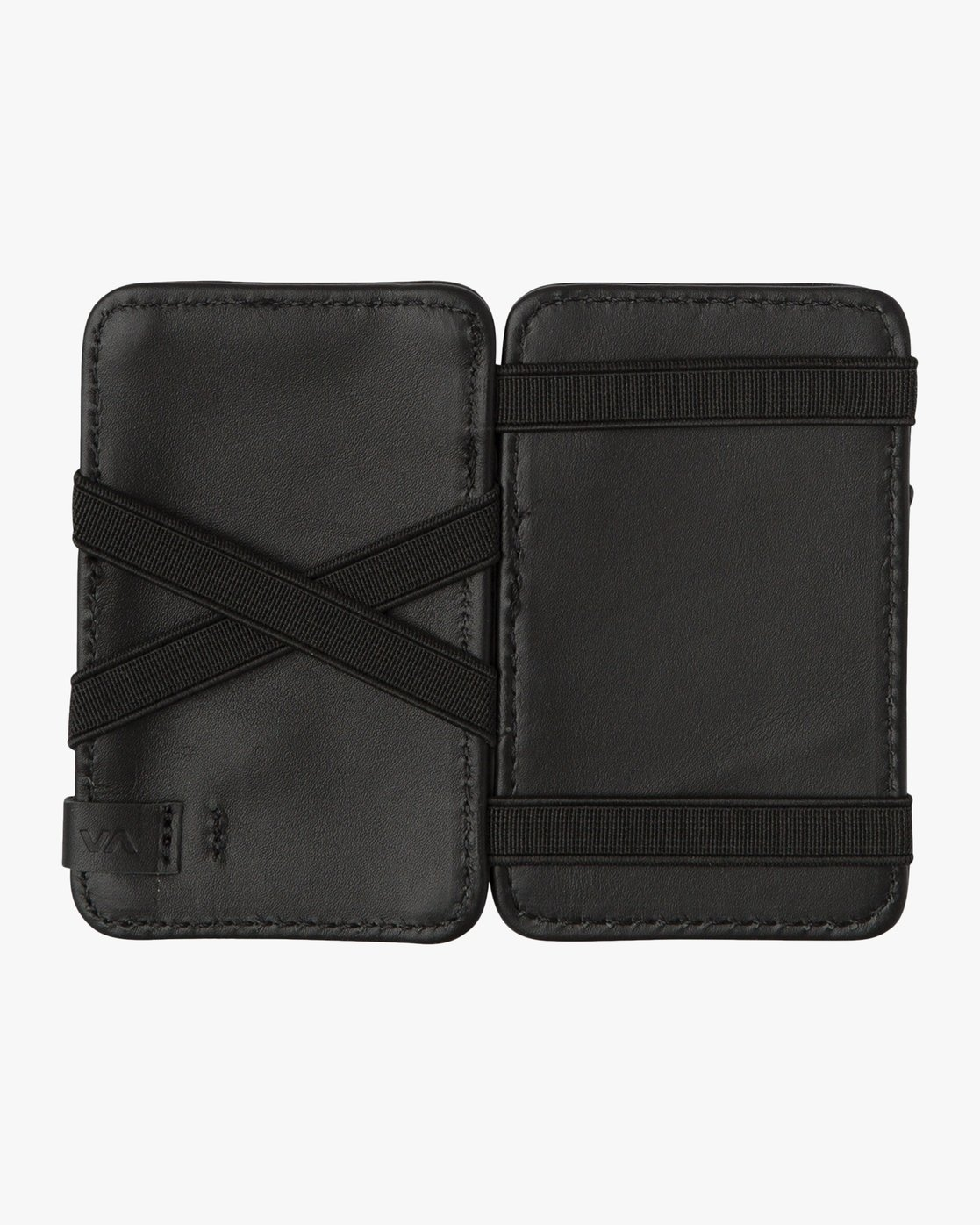 2 Leather Magic Wallet Black MAWASRML RVCA