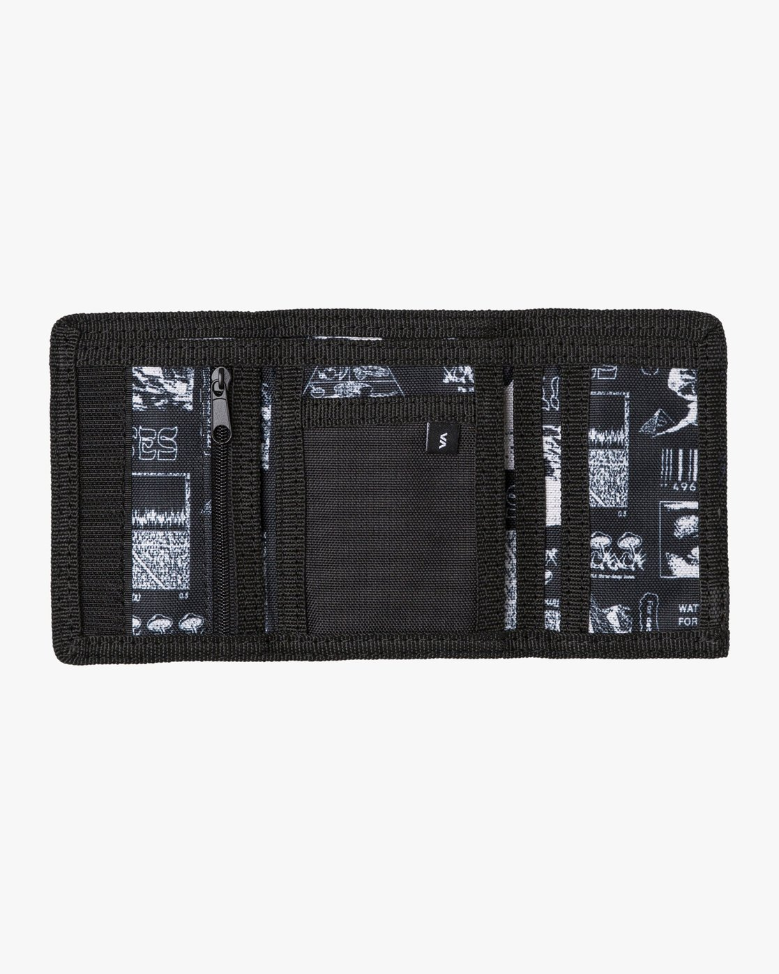 1 RVCA Print Trifold Wallet Black MAWASRPT RVCA
