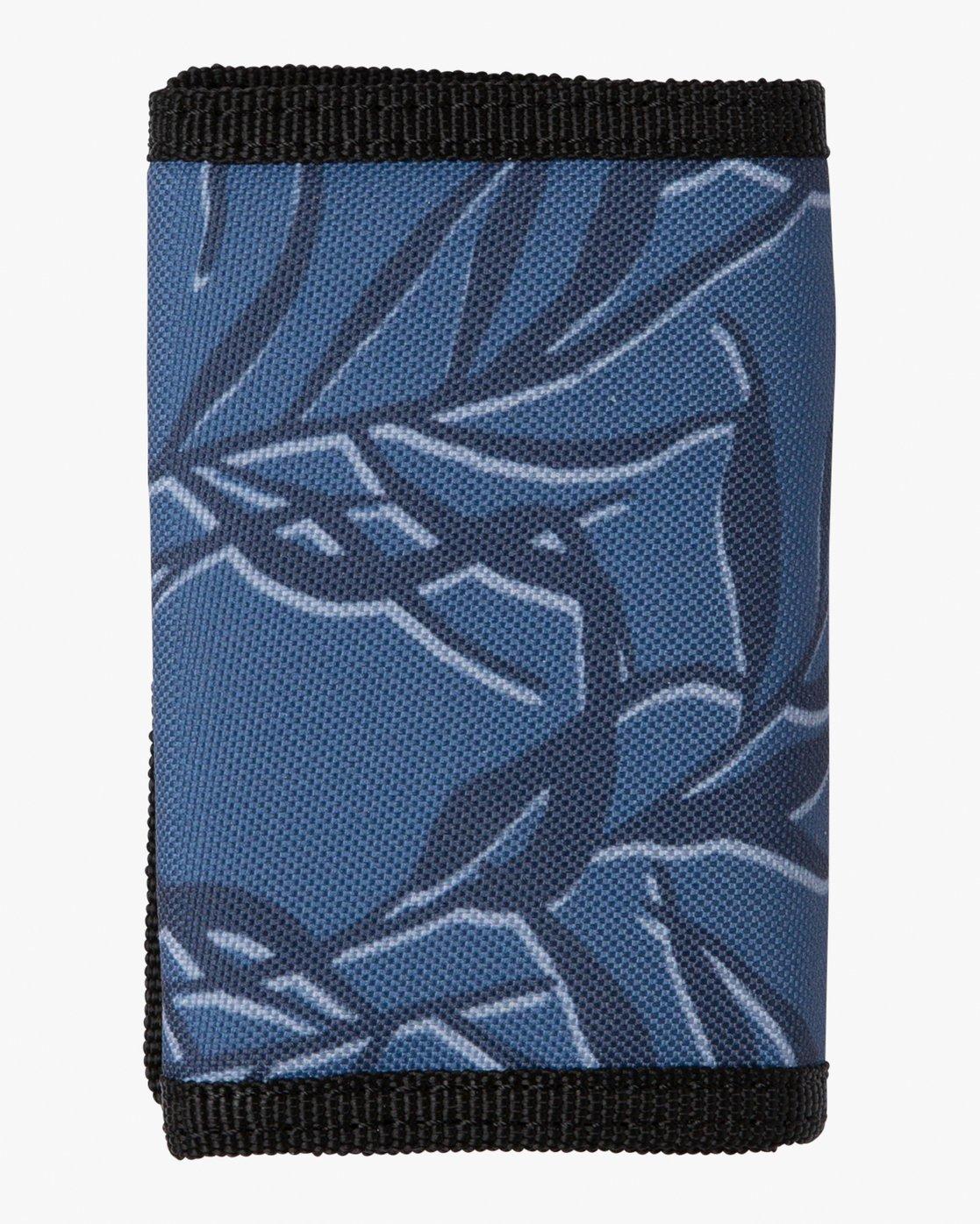 1 RVCA Print Trifold Wallet Blue MAWASRPT RVCA