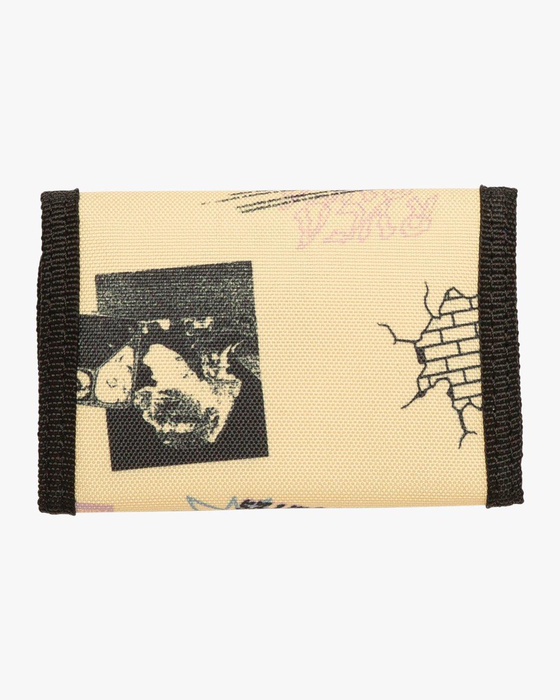1 RVCA Print Trifold Wallet Yellow MAWASRPT RVCA