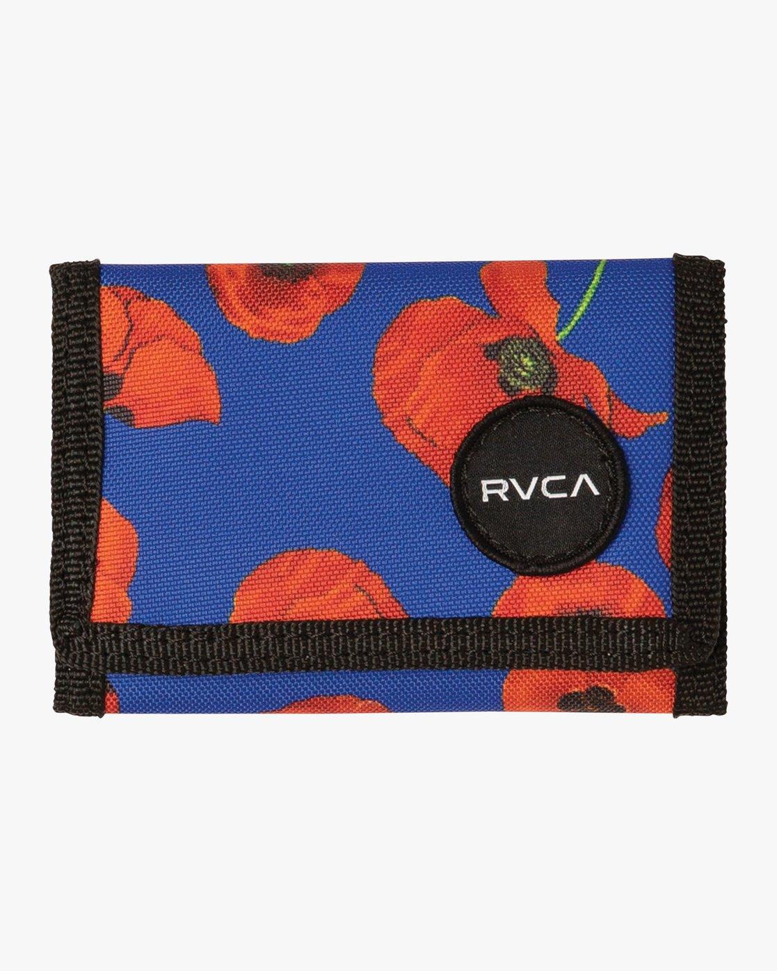 0 RVCA Print Trifold Wallet Red MAWASRPT RVCA