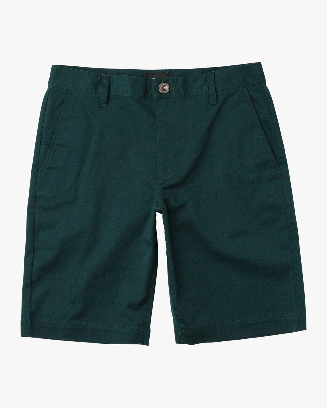 0 Week-End Stretch Shorts Green MC202WKS RVCA