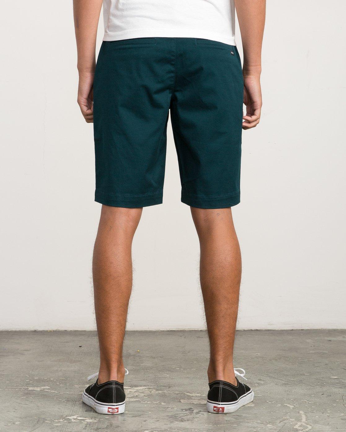 4 Week-End Stretch Shorts Green MC202WKS RVCA