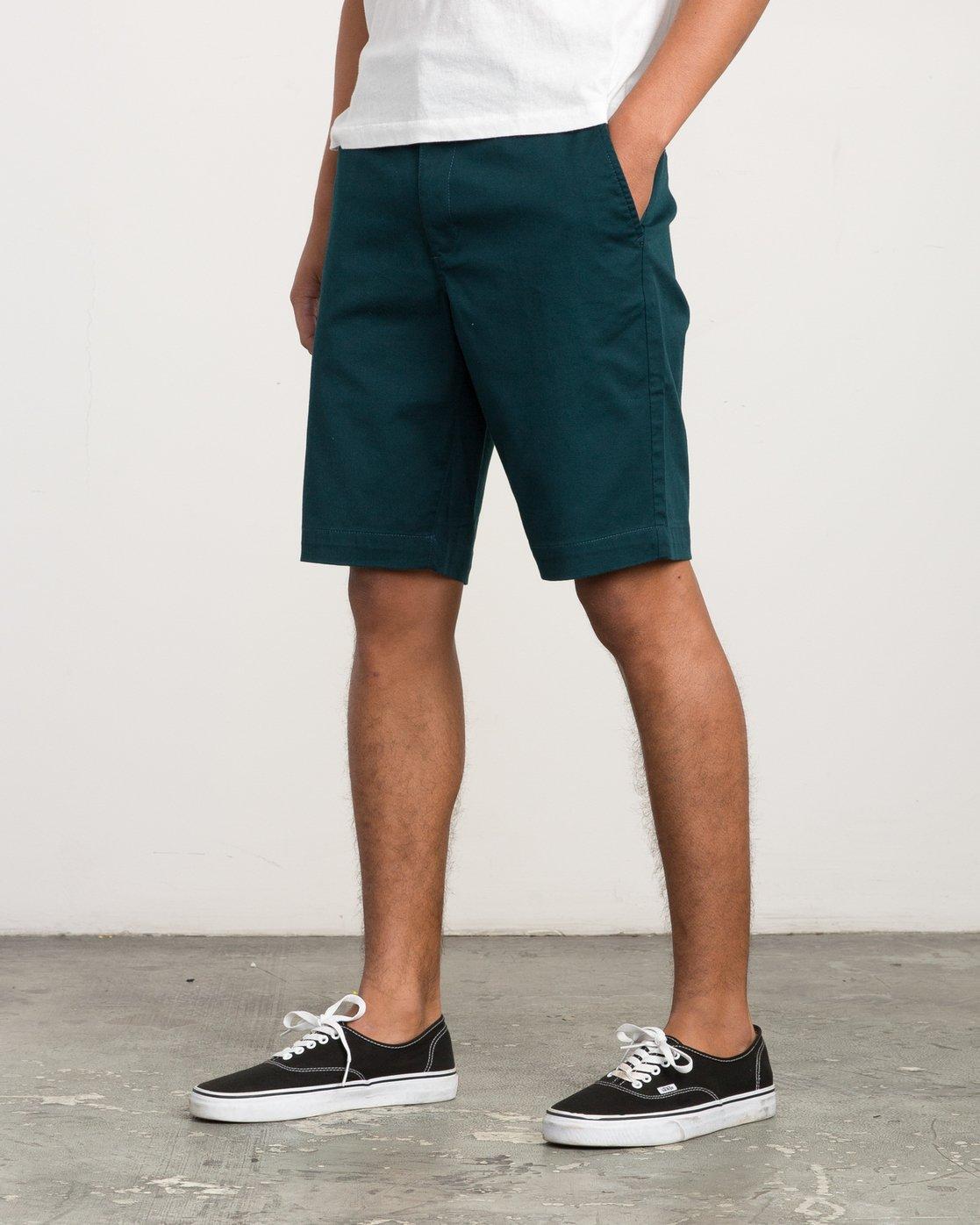 2 Week-End Stretch Shorts Green MC202WKS RVCA