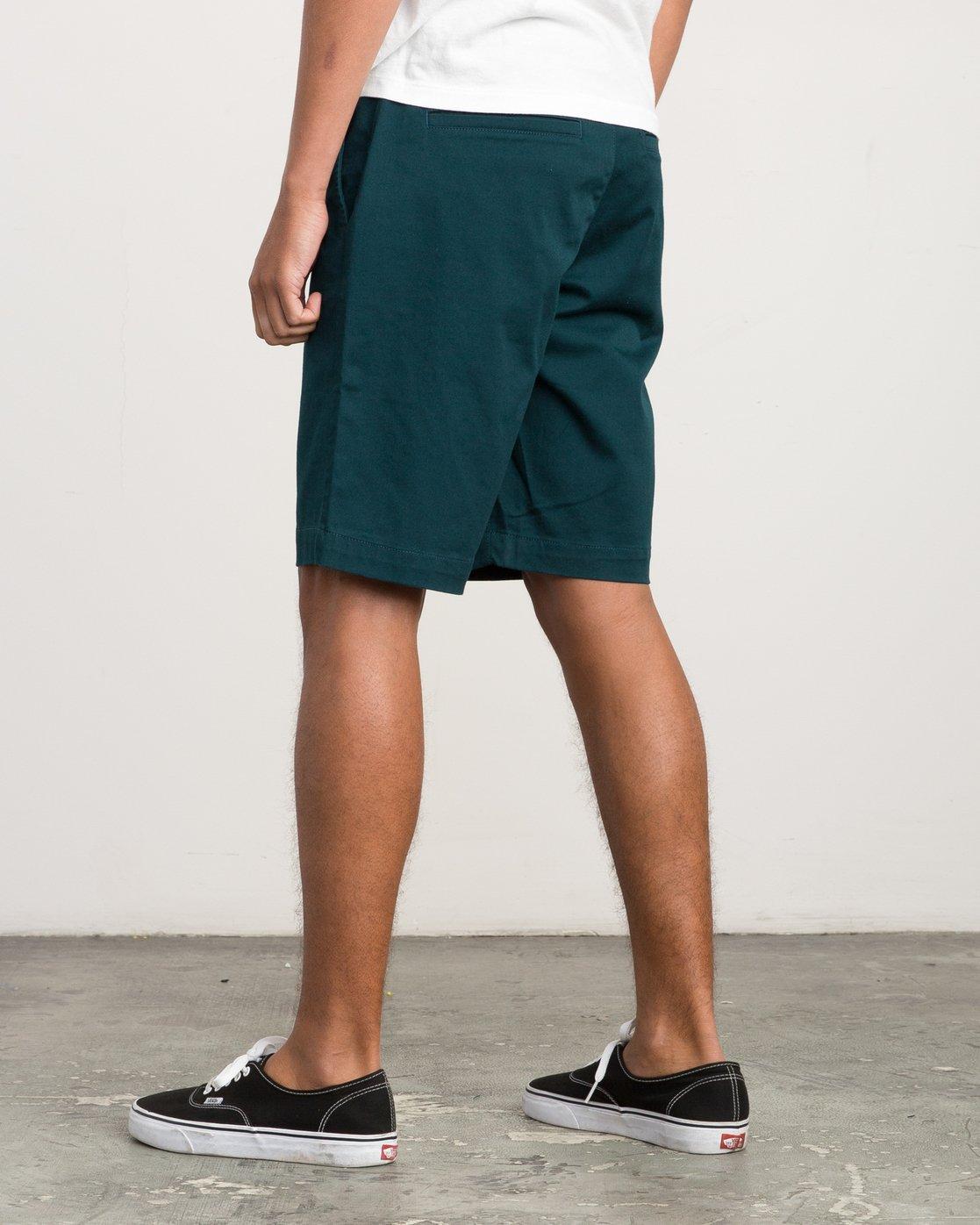 3 Week-End Stretch Shorts Green MC202WKS RVCA
