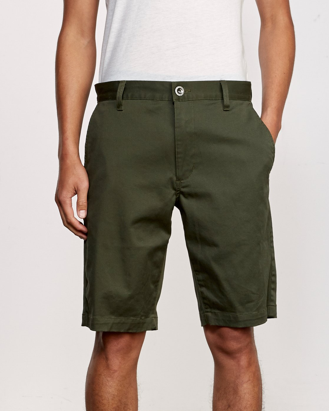 7 Week-End Stretch Shorts Green MC202WKS RVCA
