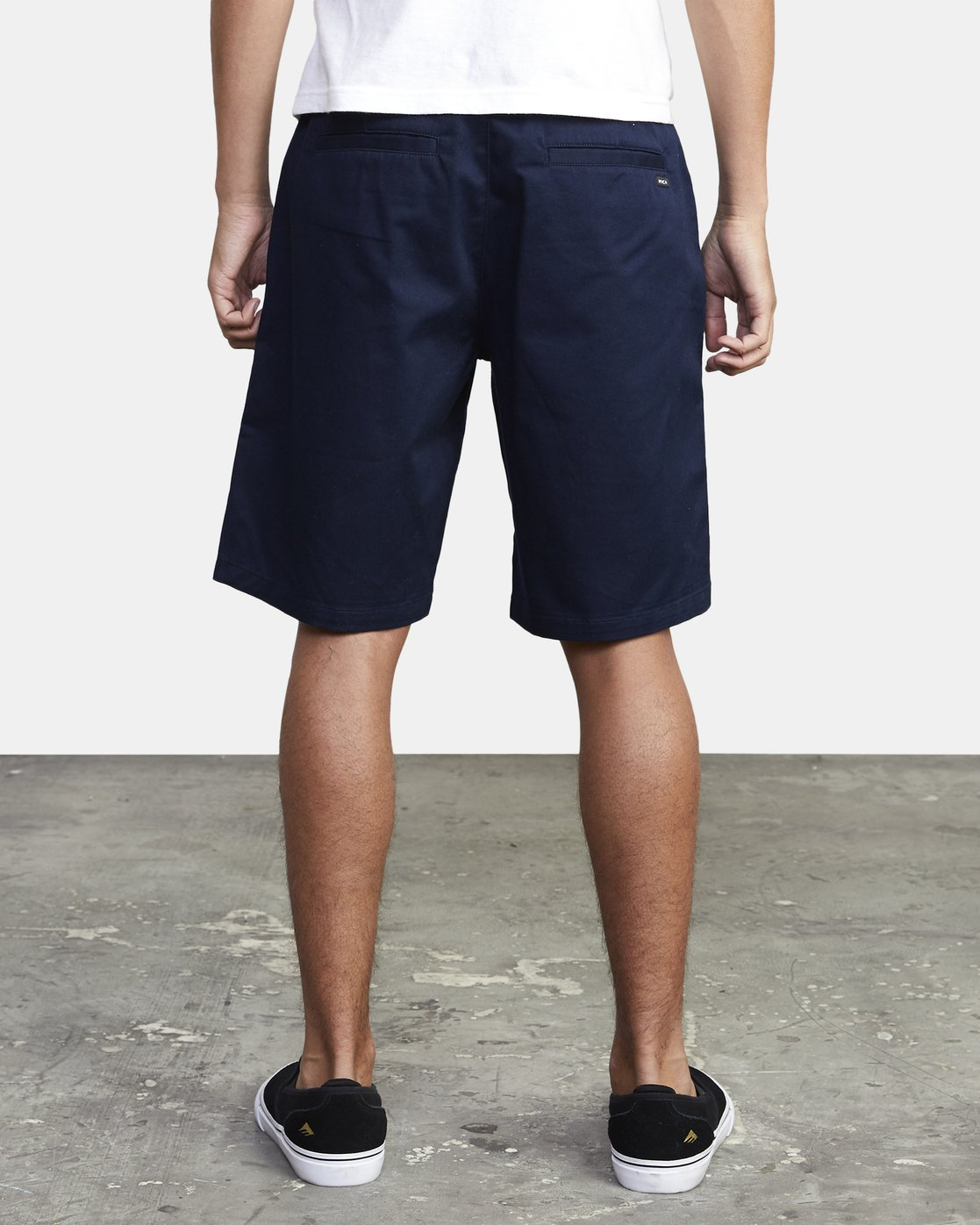 "4 week-end 20"" STRETCH SHORTS Blue MC202WKS RVCA"