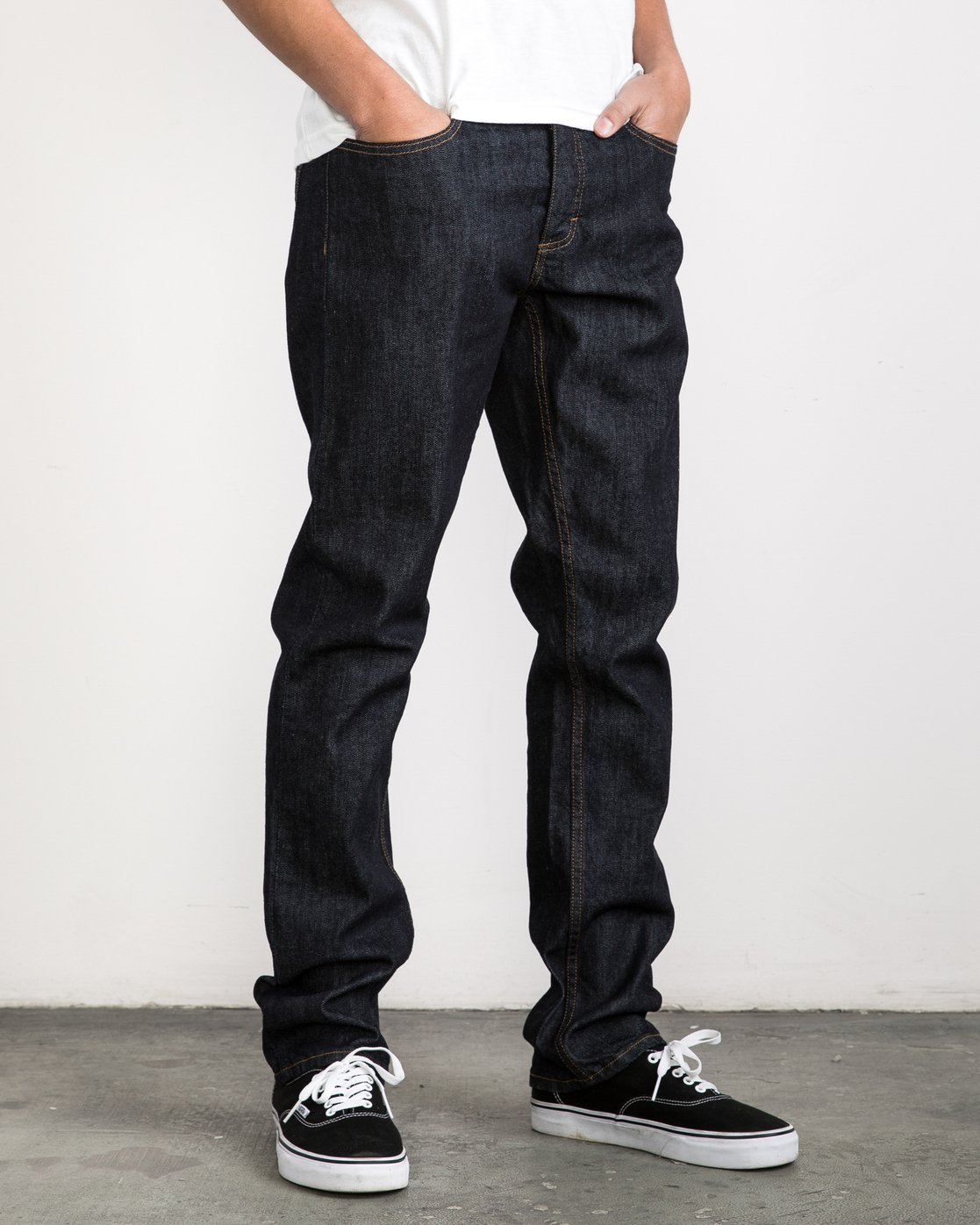 6 Stay RVCA Denim Pants Blue MDDP02ST RVCA