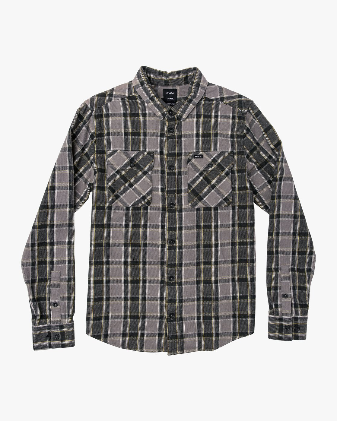 0 That'll Work Flannel Long Sleeve Shirt Grey MG519TWF RVCA