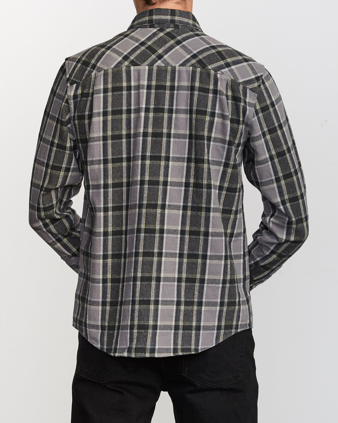 2 That'll Work Flannel Long Sleeve Shirt Grey MG519TWF RVCA