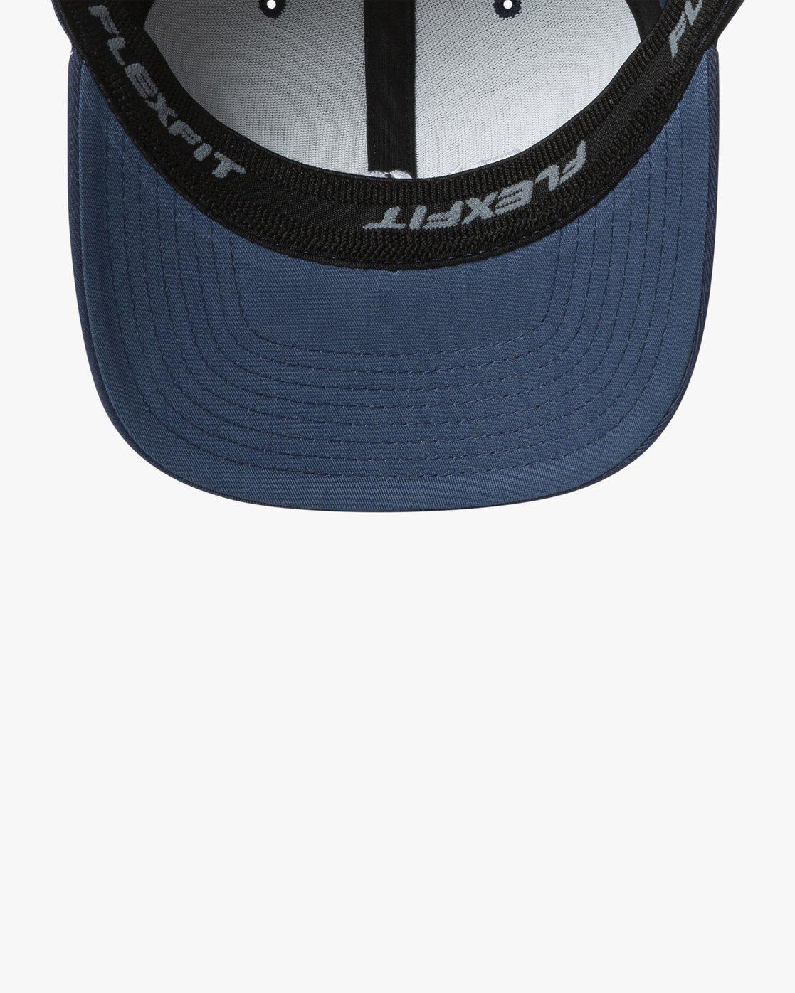 2 RVCA FLEX FIT HAT Blue MHAHWRFF RVCA