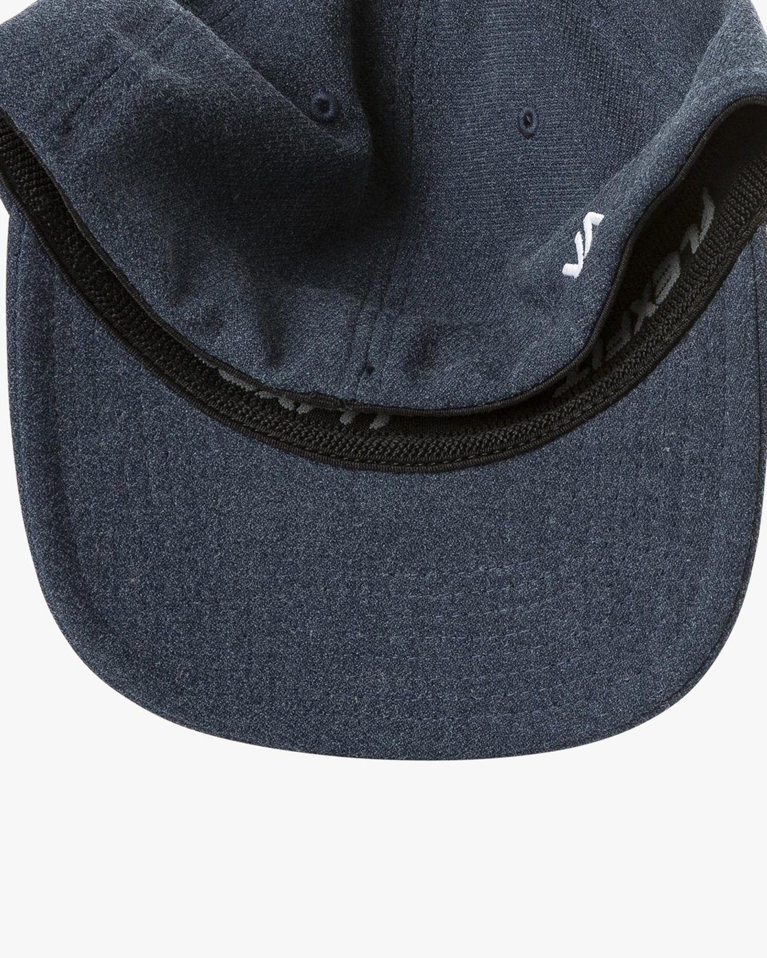 2 RVCA Flex Fit Baseball Hat Blue MHAHWRFF RVCA