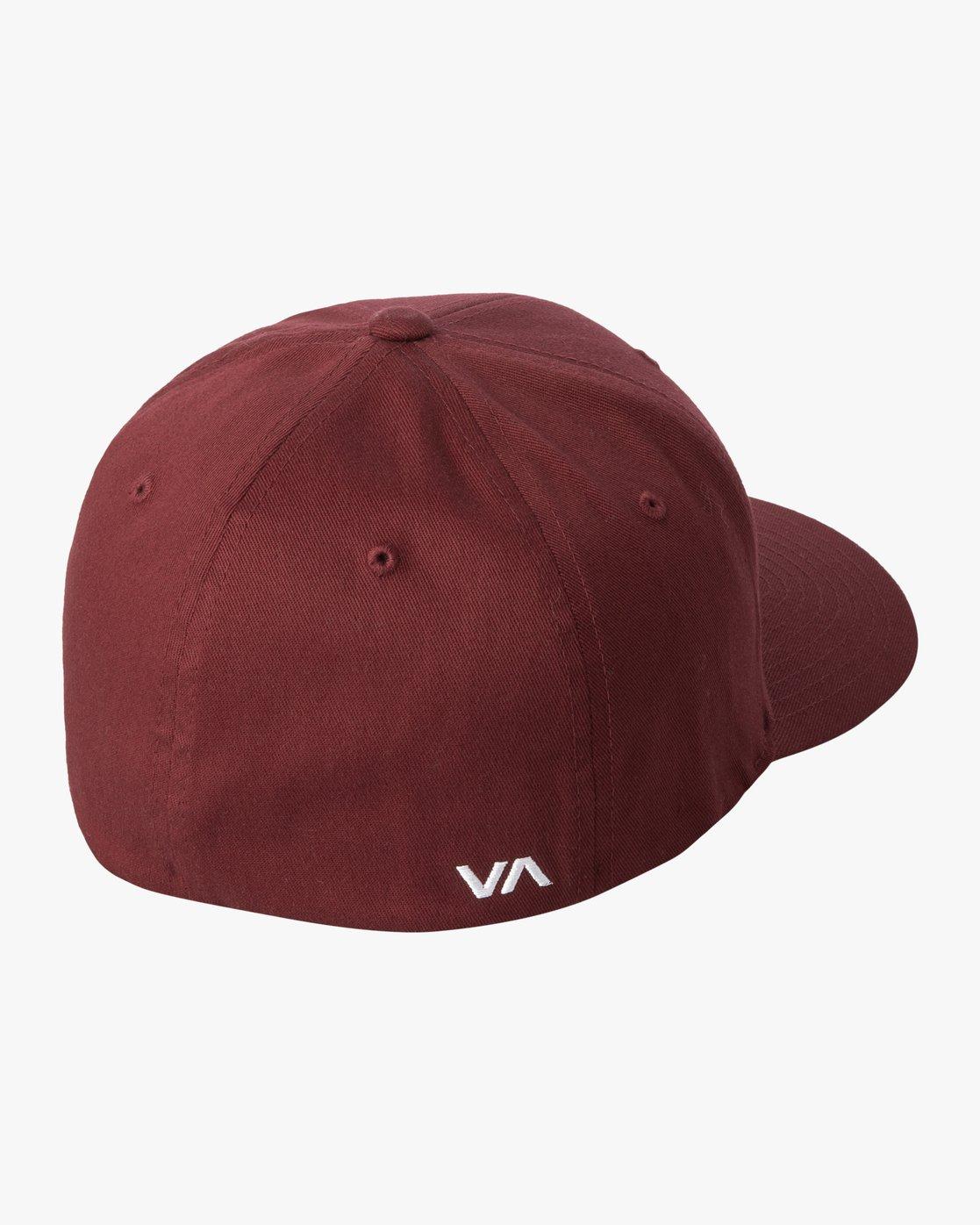 3 RVCA FLEX FIT HAT Red MHAHWRFF RVCA