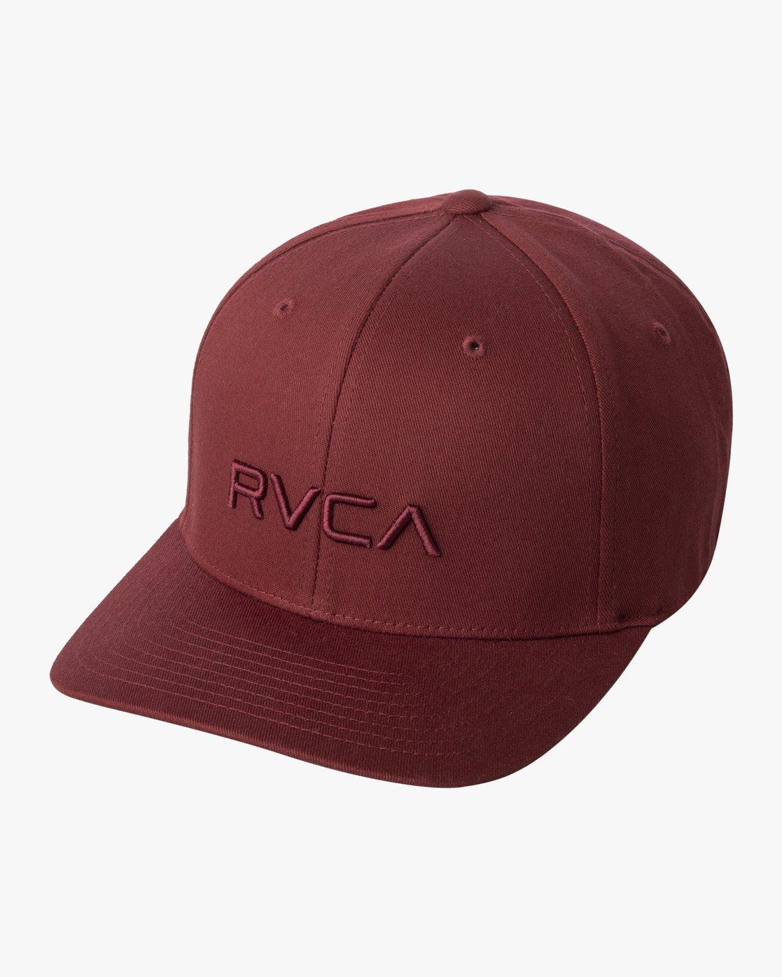 2 RVCA FLEX FIT HAT Red MHAHWRFF RVCA