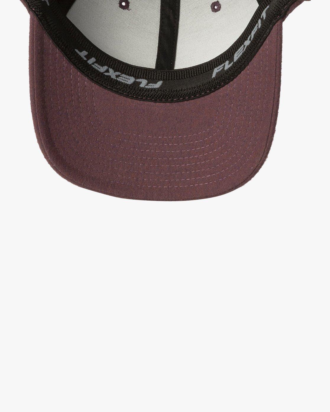 2 RVCA Flex Fit Baseball Hat Purple MHAHWRFF RVCA