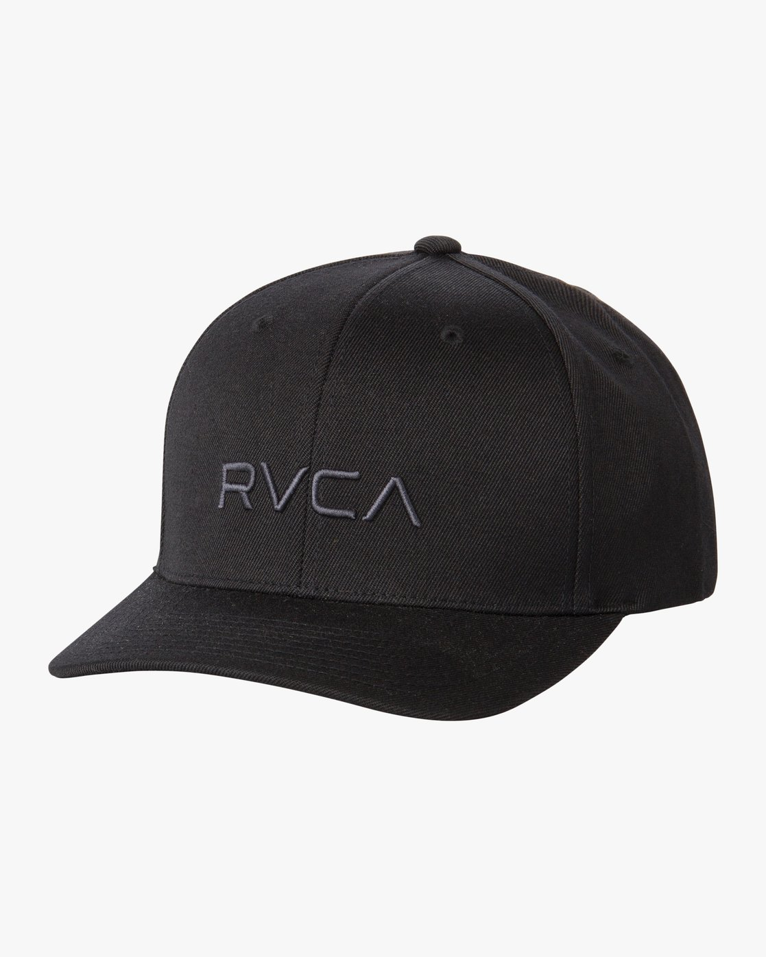 0 RVCA Flex Fit Baseball Hat Black MHAHWRFF RVCA