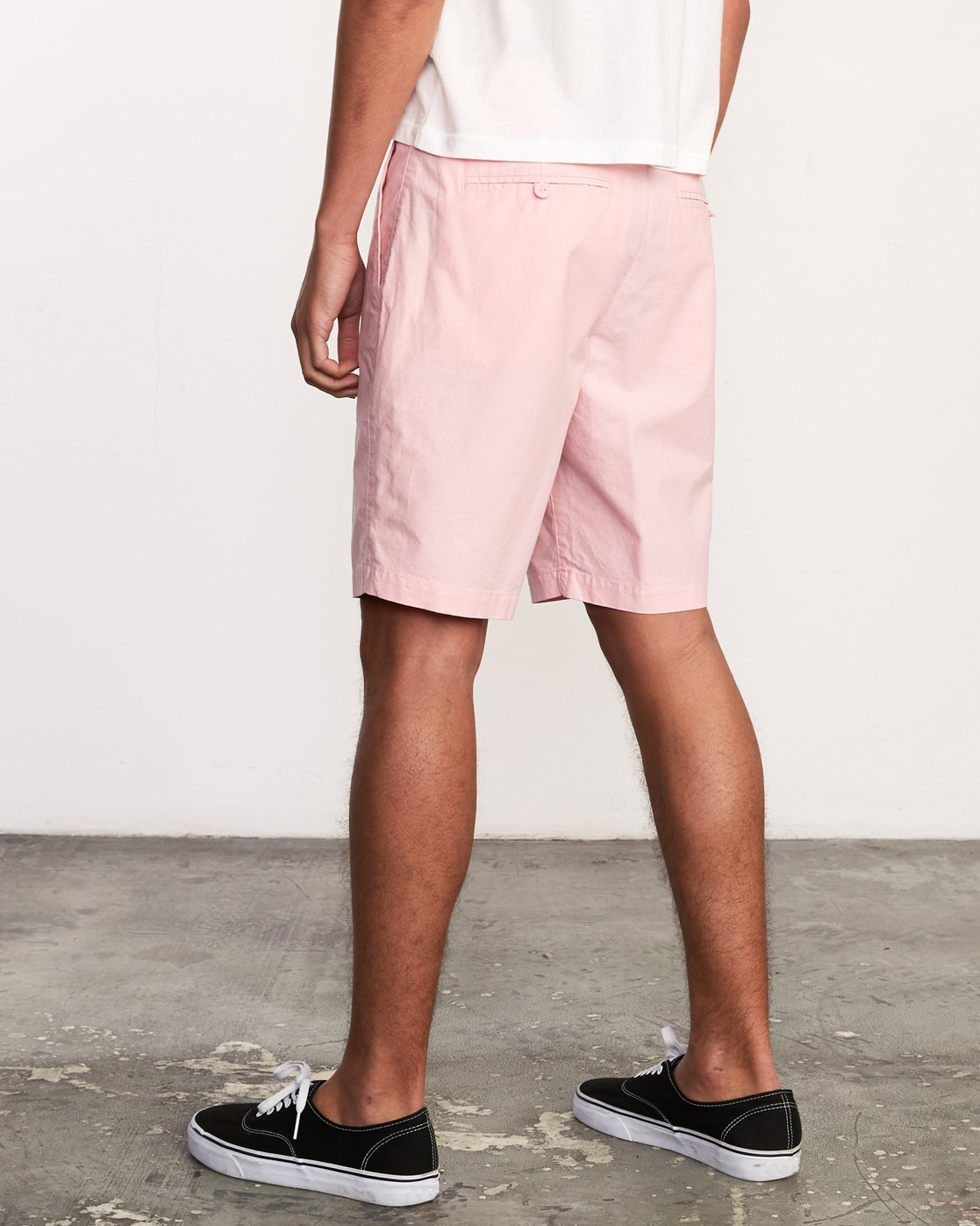 3 That'll Walk Oxford Short Pink MJ214TWO RVCA