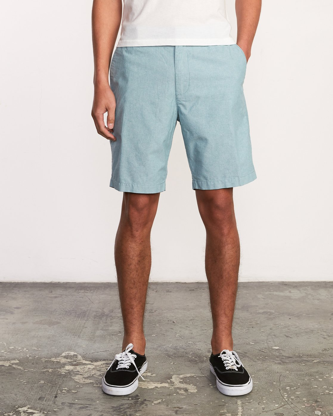 1 That'll Walk Oxford Short Blue MJ214TWO RVCA