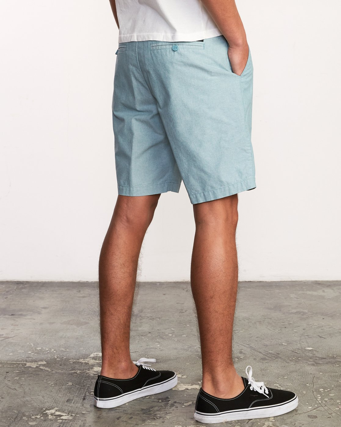 5 That'll Walk Oxford Short Blue MJ214TWO RVCA