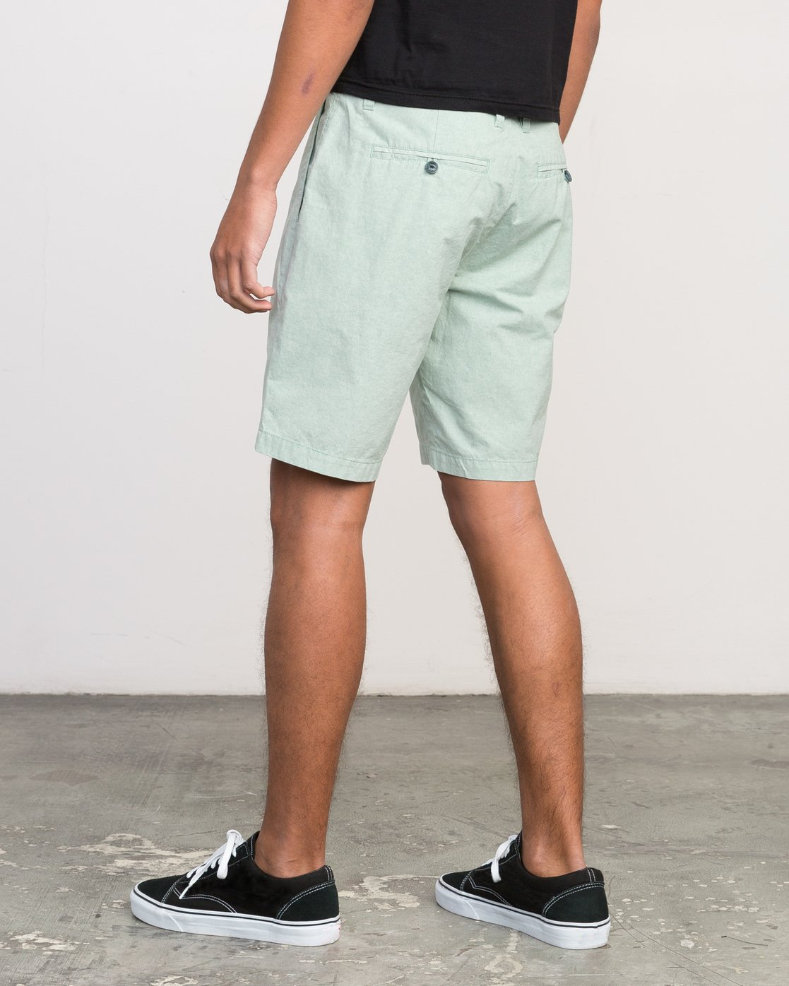 3 That'll Walk Oxford Short Green MJ214TWO RVCA