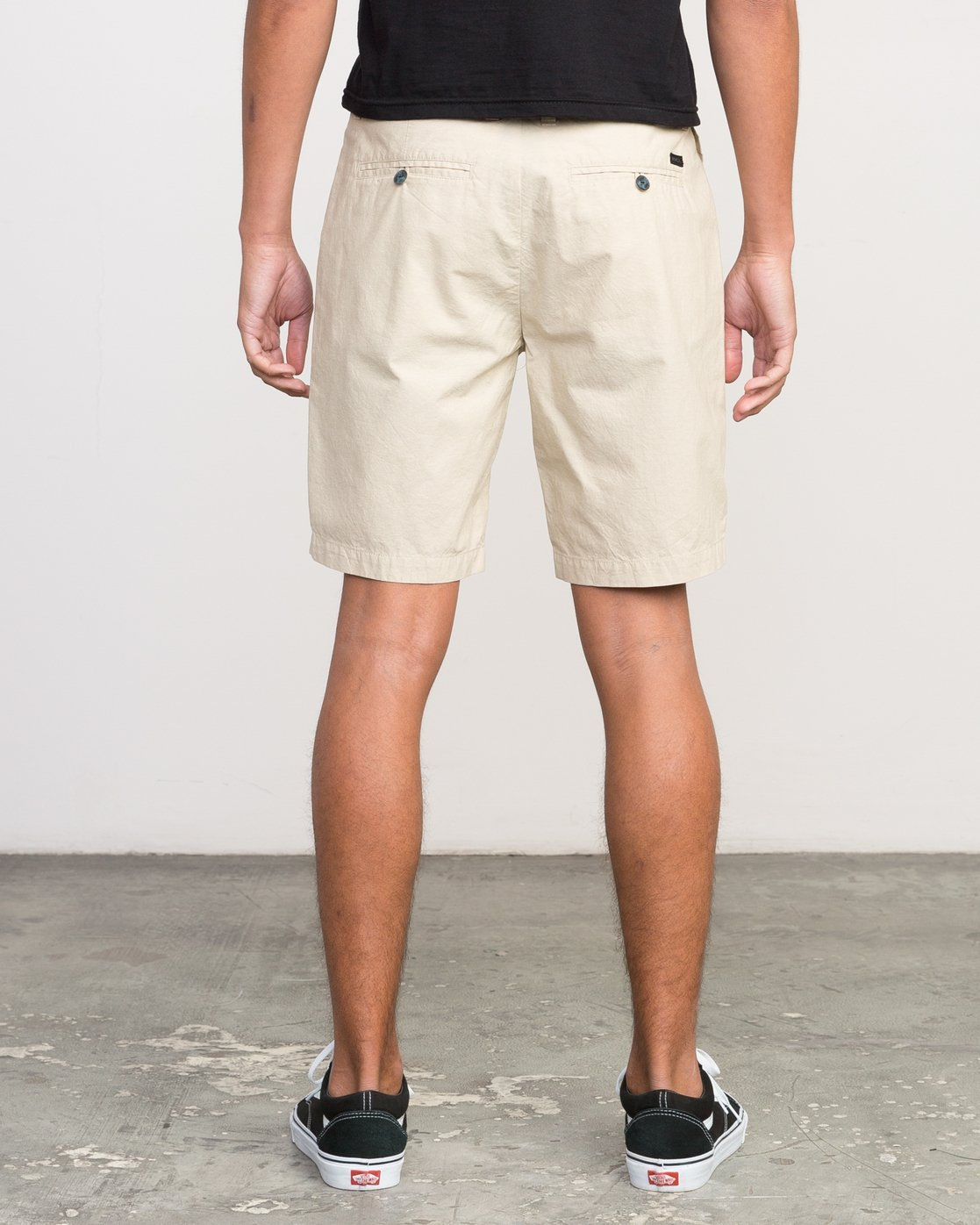 4 That'll Walk Oxford Short Yellow MJ214TWO RVCA