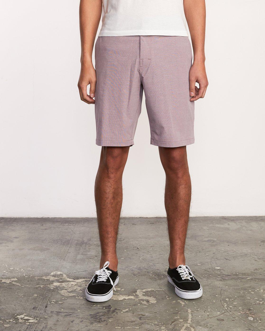 1 Balance Hybrid Shorts Purple MK201BAL RVCA