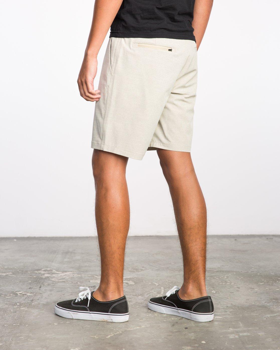 3 Balance Hybrid Shorts Beige MK201BAL RVCA