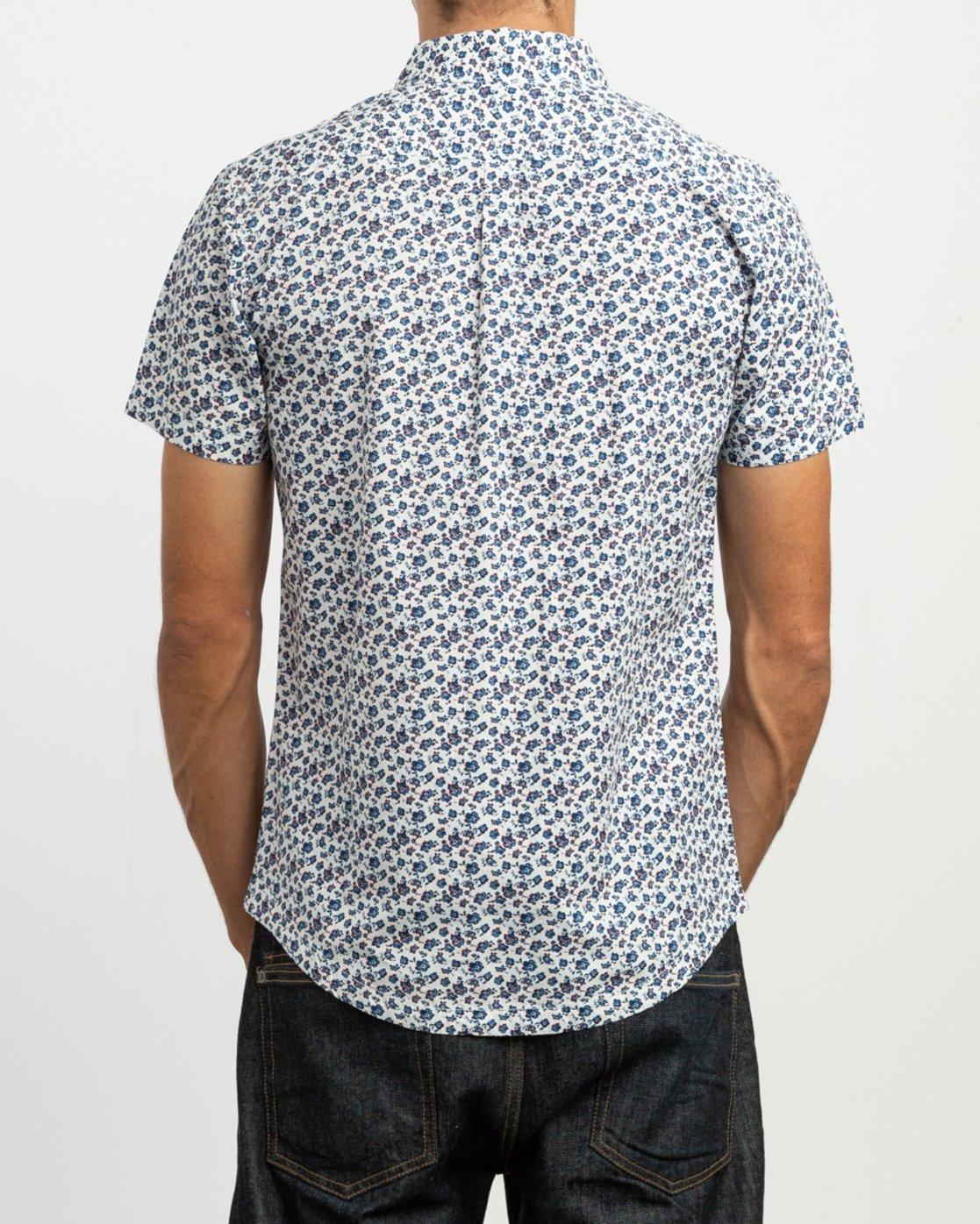 3 Porcelain Printed Short Sleeve Shirt White MK507POR RVCA
