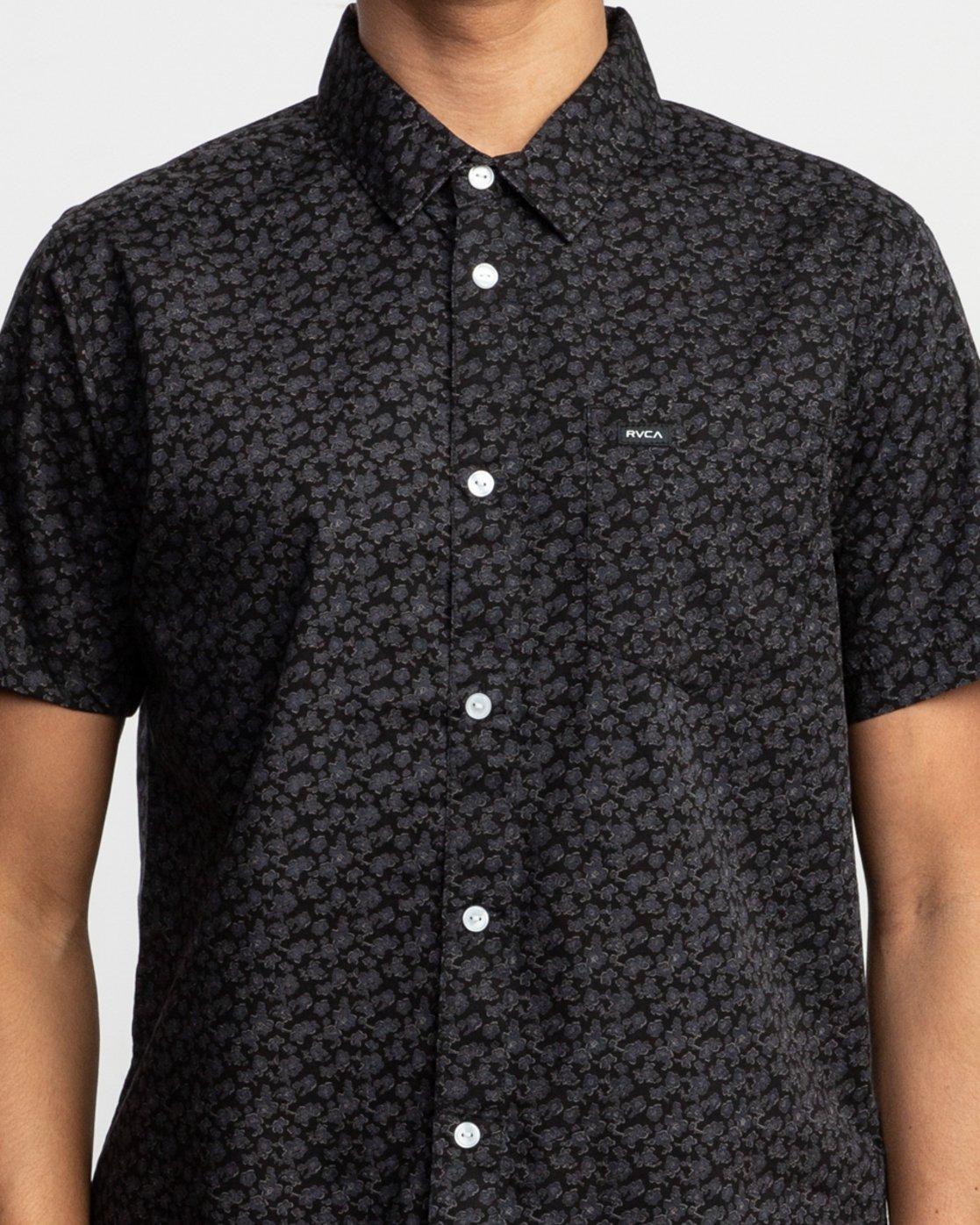 4 Porcelain Printed Short Sleeve Shirt Black MK507POR RVCA