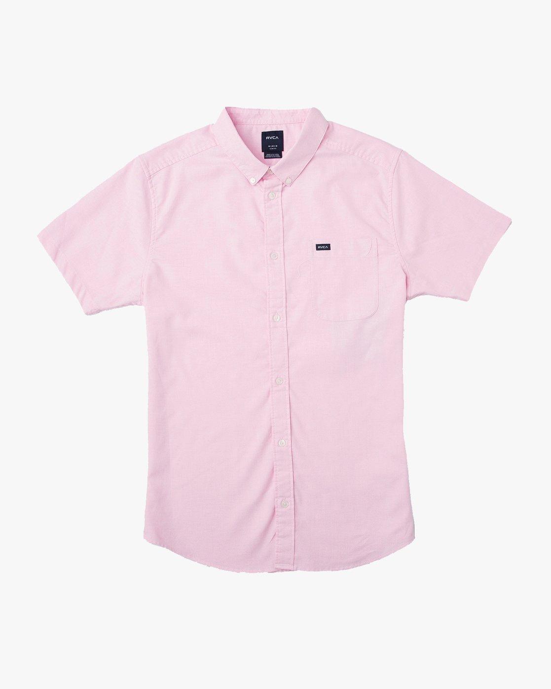 4 That'll Do Stretch Short Sleeve Shirt Pink MK515TDS RVCA