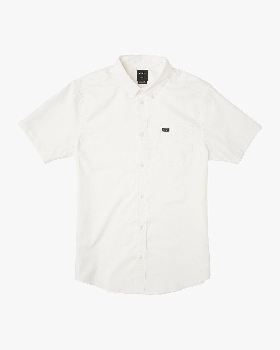 0 That'll Do Stretch Short Sleeve Shirt White MK515TDS RVCA
