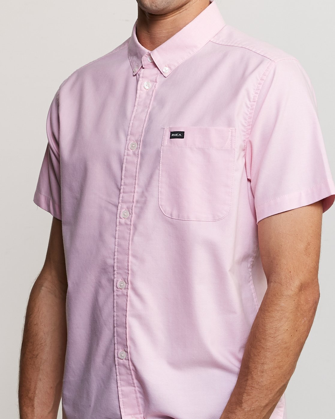 3 That'll Do Stretch Short Sleeve Shirt Pink MK515TDS RVCA