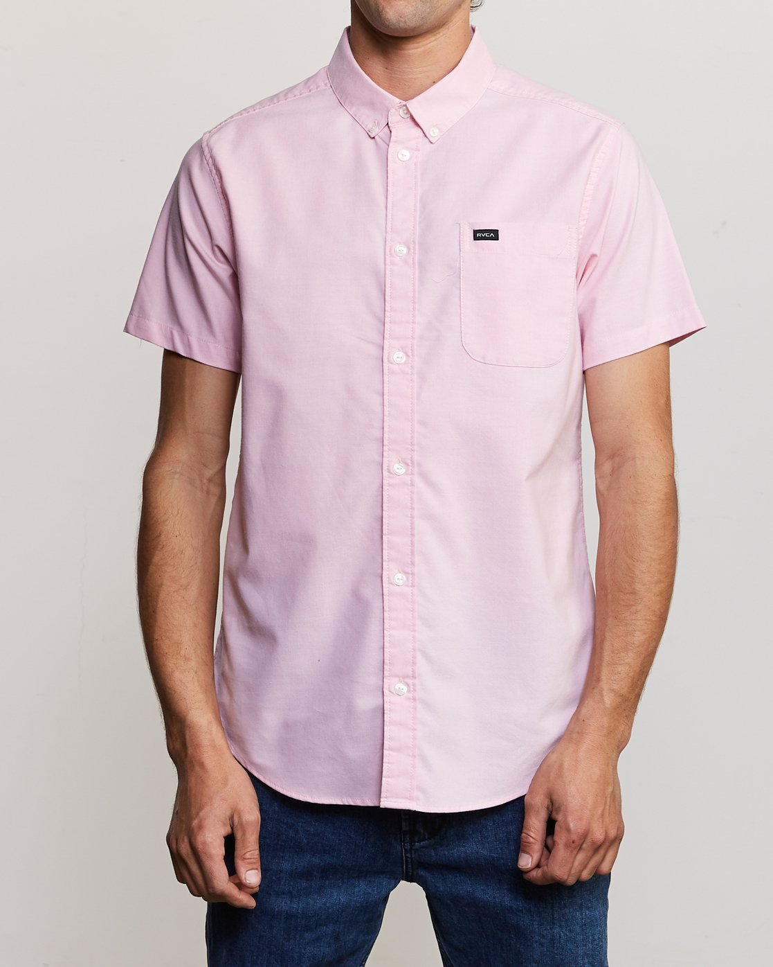 0 That'll Do Stretch Short Sleeve Shirt Pink MK515TDS RVCA