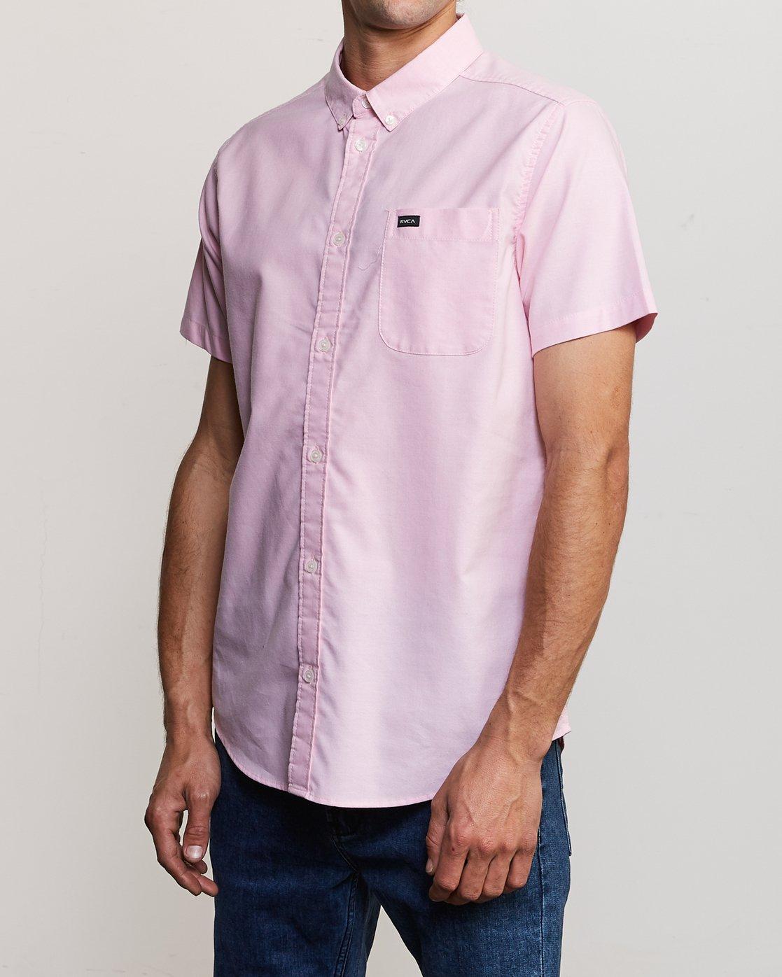 2 That'll Do Stretch Short Sleeve Shirt Pink MK515TDS RVCA