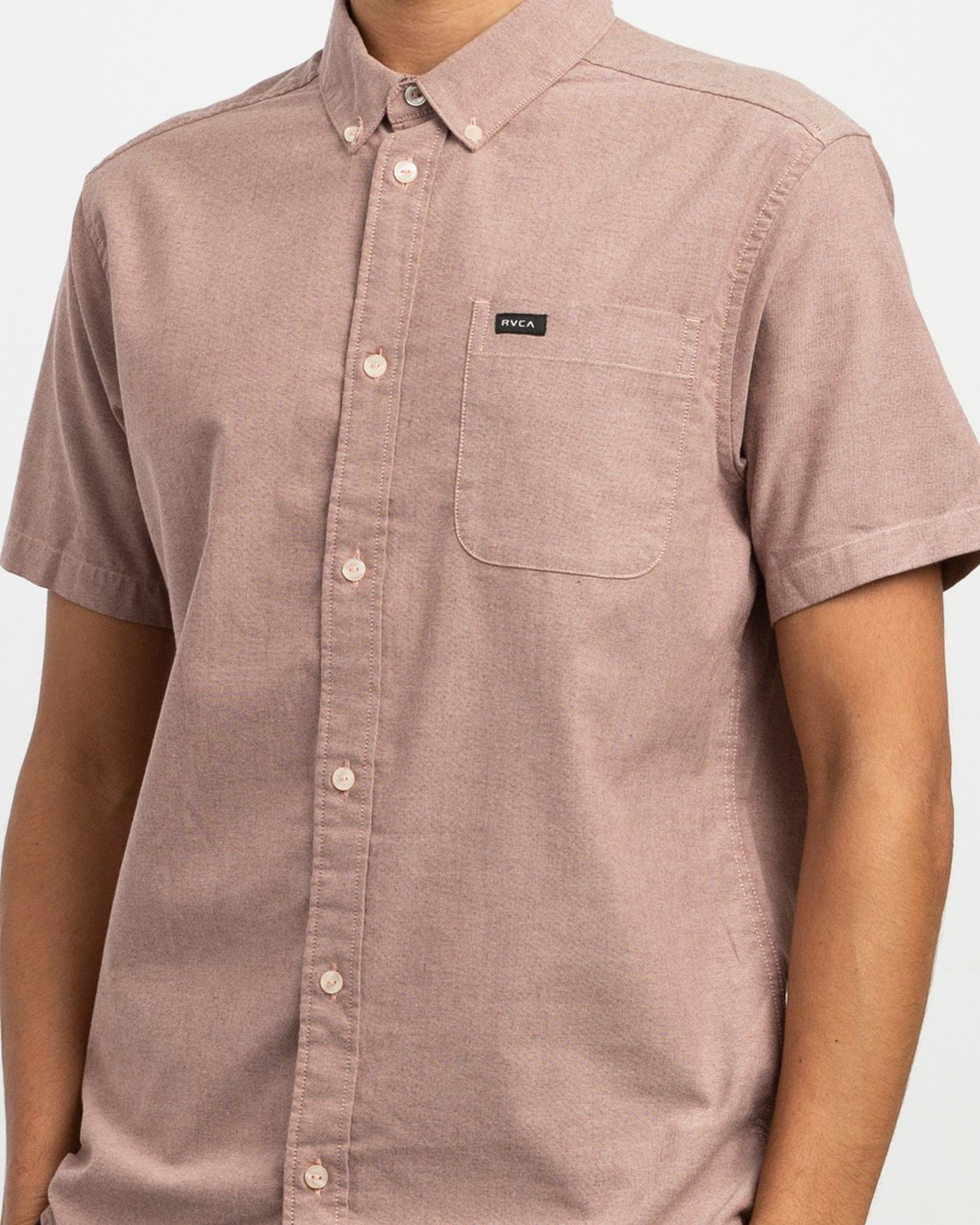 4 That'll Do Stretch Short Sleeve Shirt Red MK515TDS RVCA