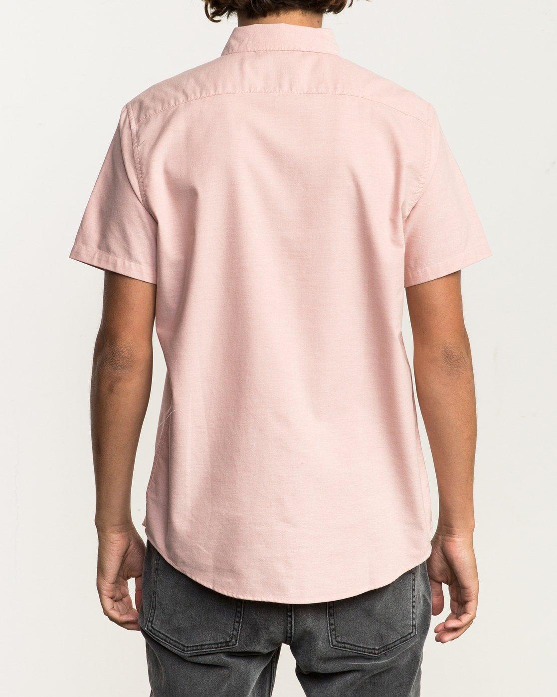 3 That'll Do Stretch Short Sleeve Shirt Brown MK515TDS RVCA
