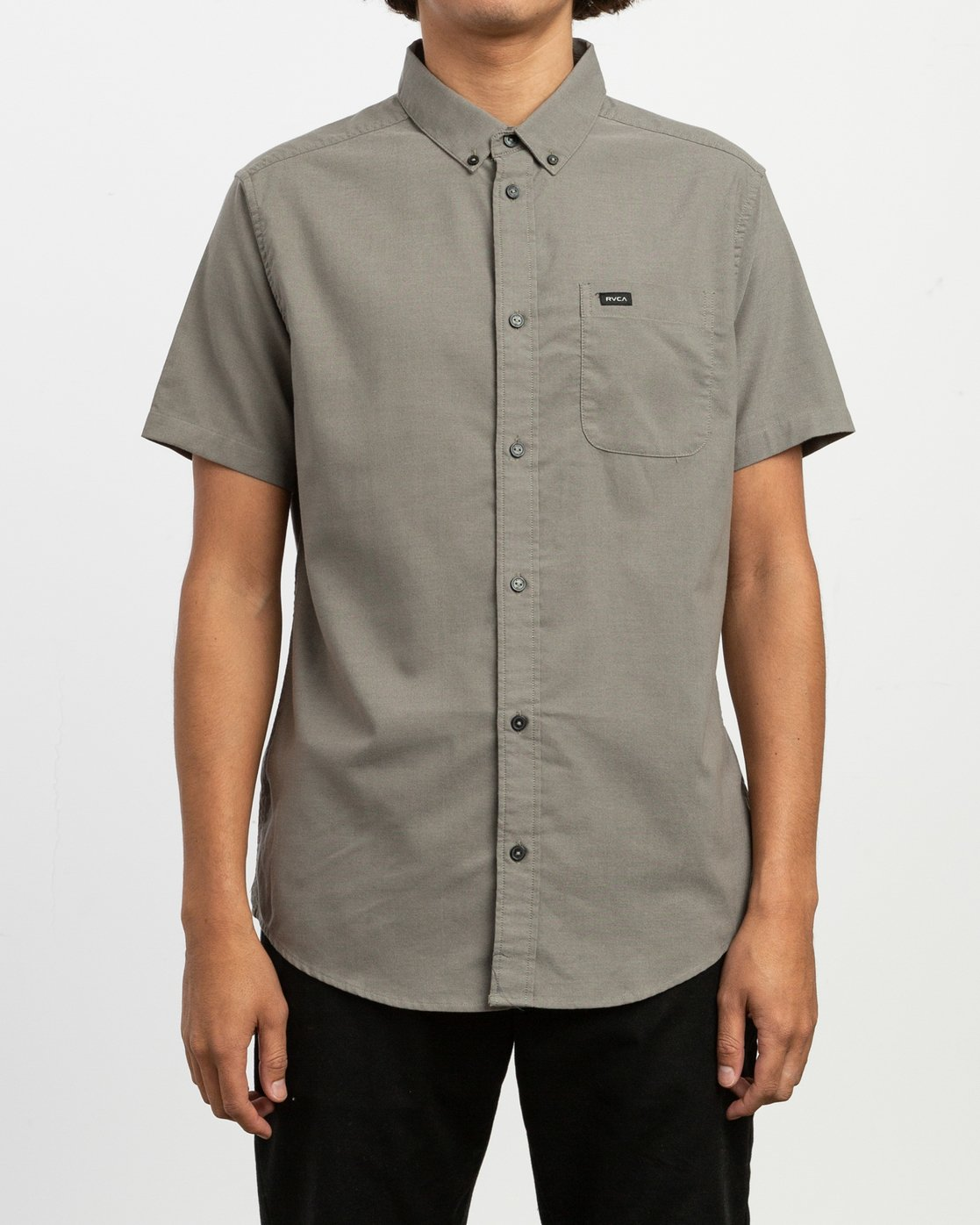 1 That'll Do Stretch Short Sleeve Shirt Brown MK515TDS RVCA