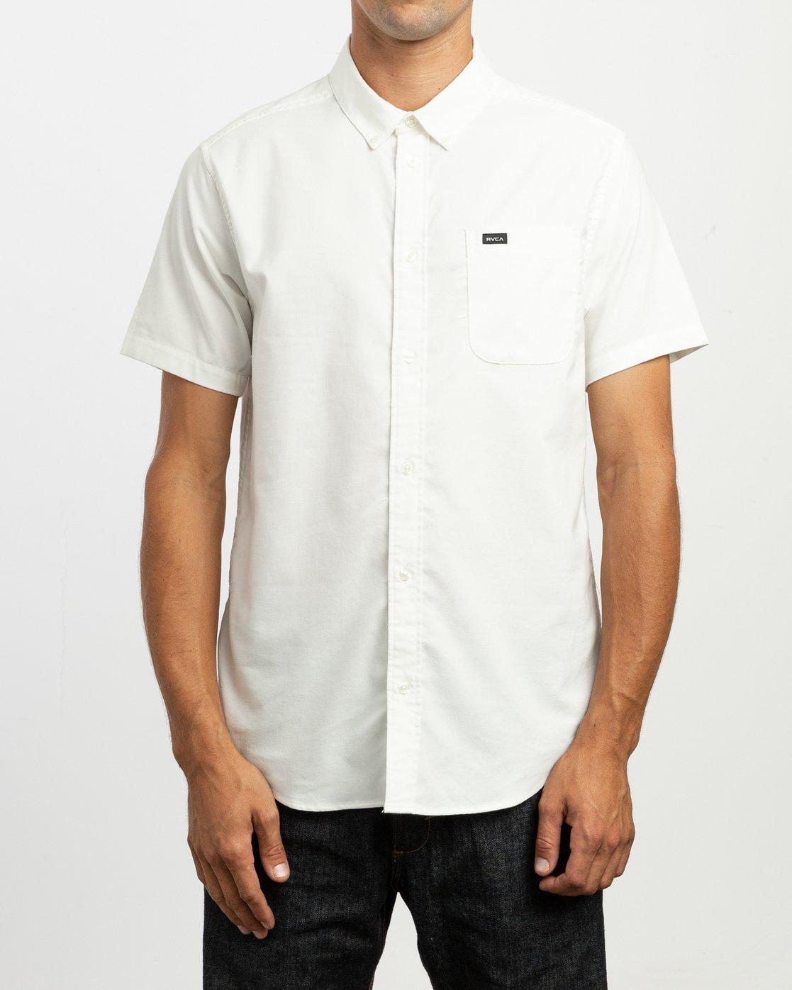 1 That'll Do Stretch Short Sleeve Shirt White MK515TDS RVCA