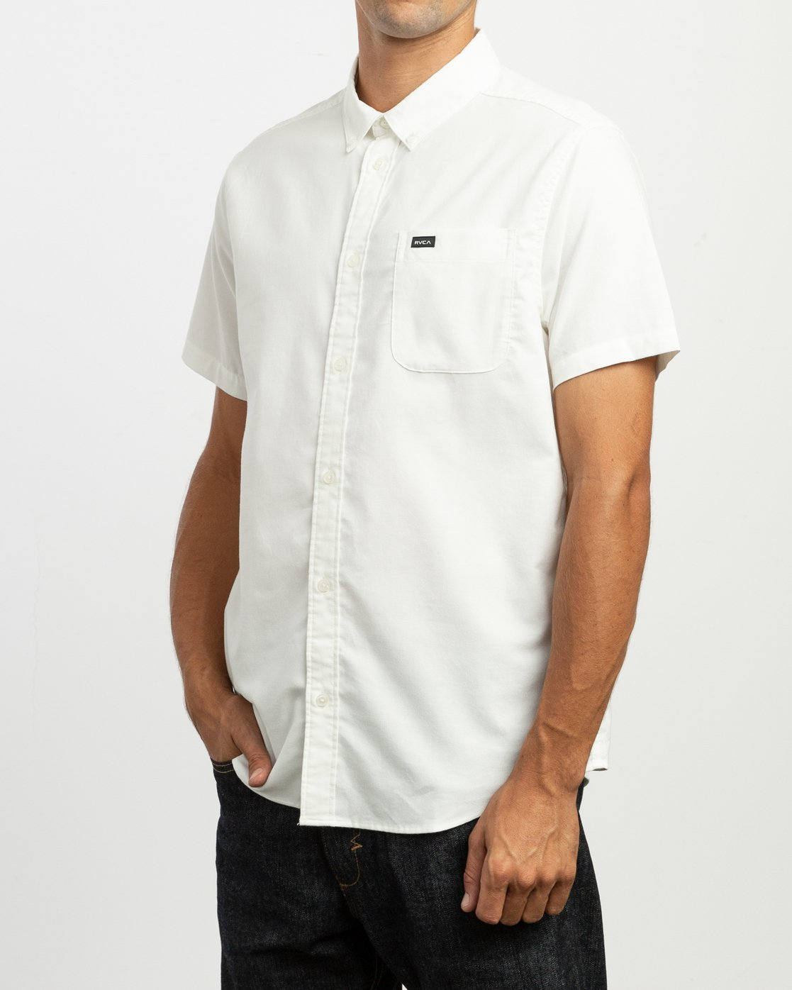 2 That'll Do Stretch Short Sleeve Shirt White MK515TDS RVCA