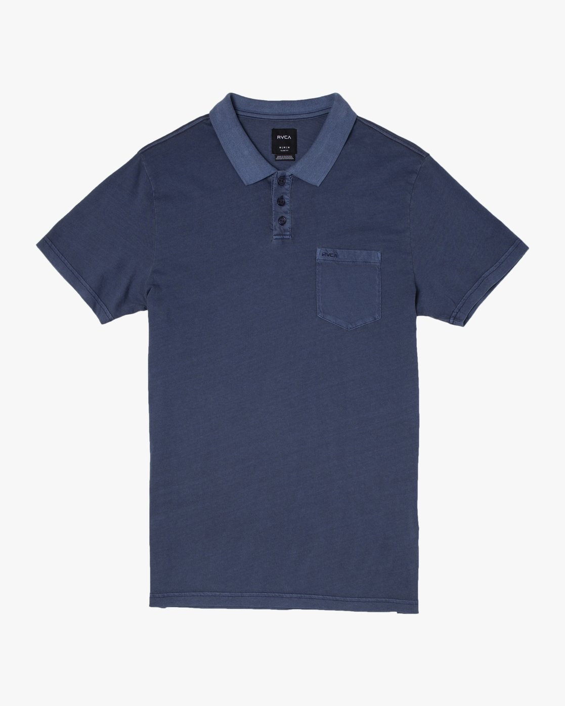 0 PTC Pigment Polo Shirt Black MK908PPP RVCA