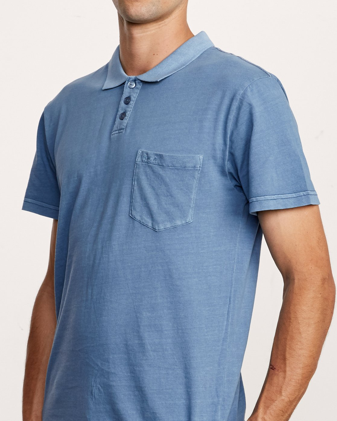 4 PTC Pigment Polo Shirt Blue MK908PPP RVCA