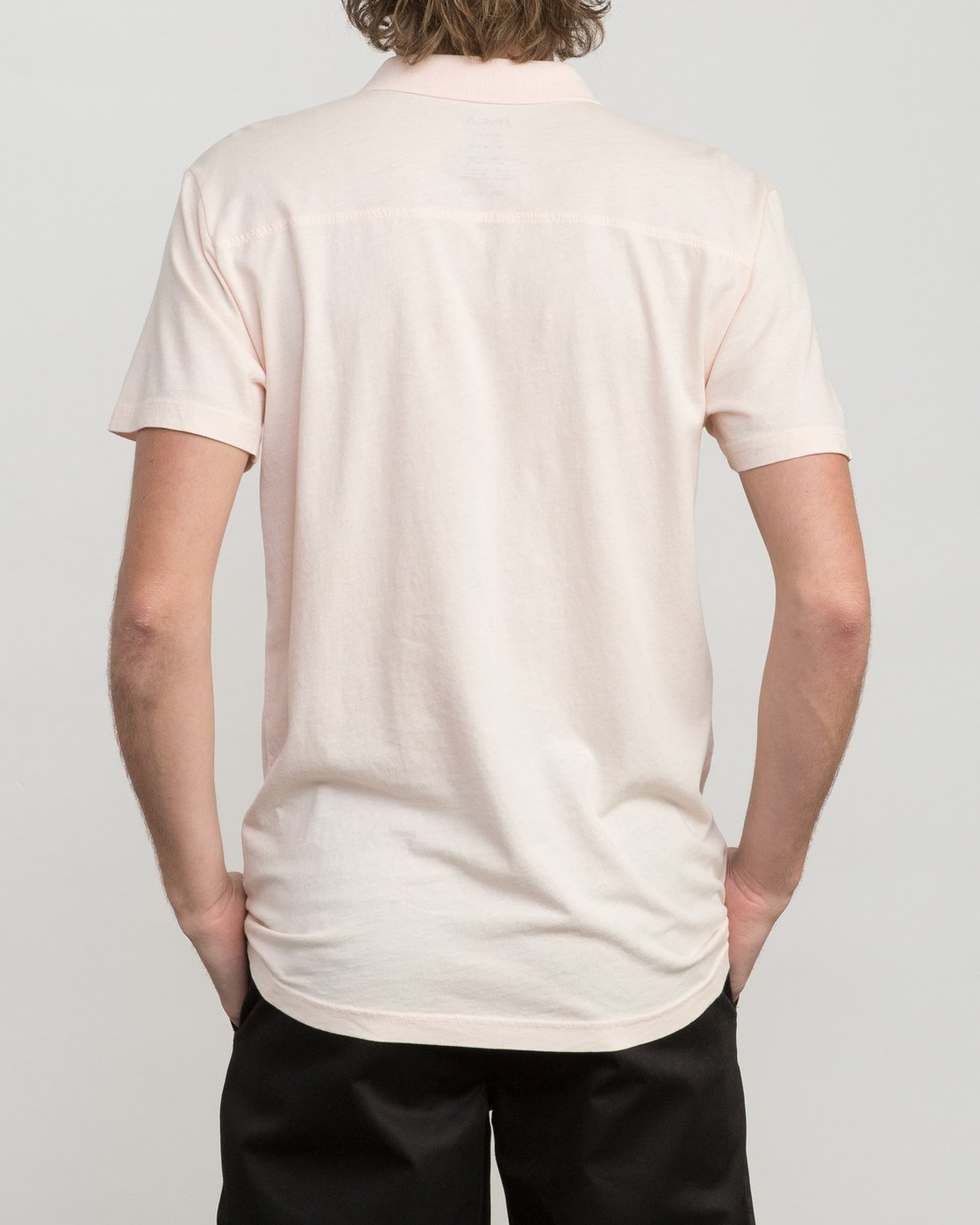 3 PTC Pigment Polo Shirt Pink MK908PPP RVCA
